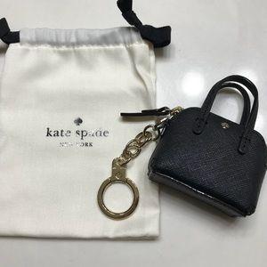 Kate Spade black maise keychain coin purse